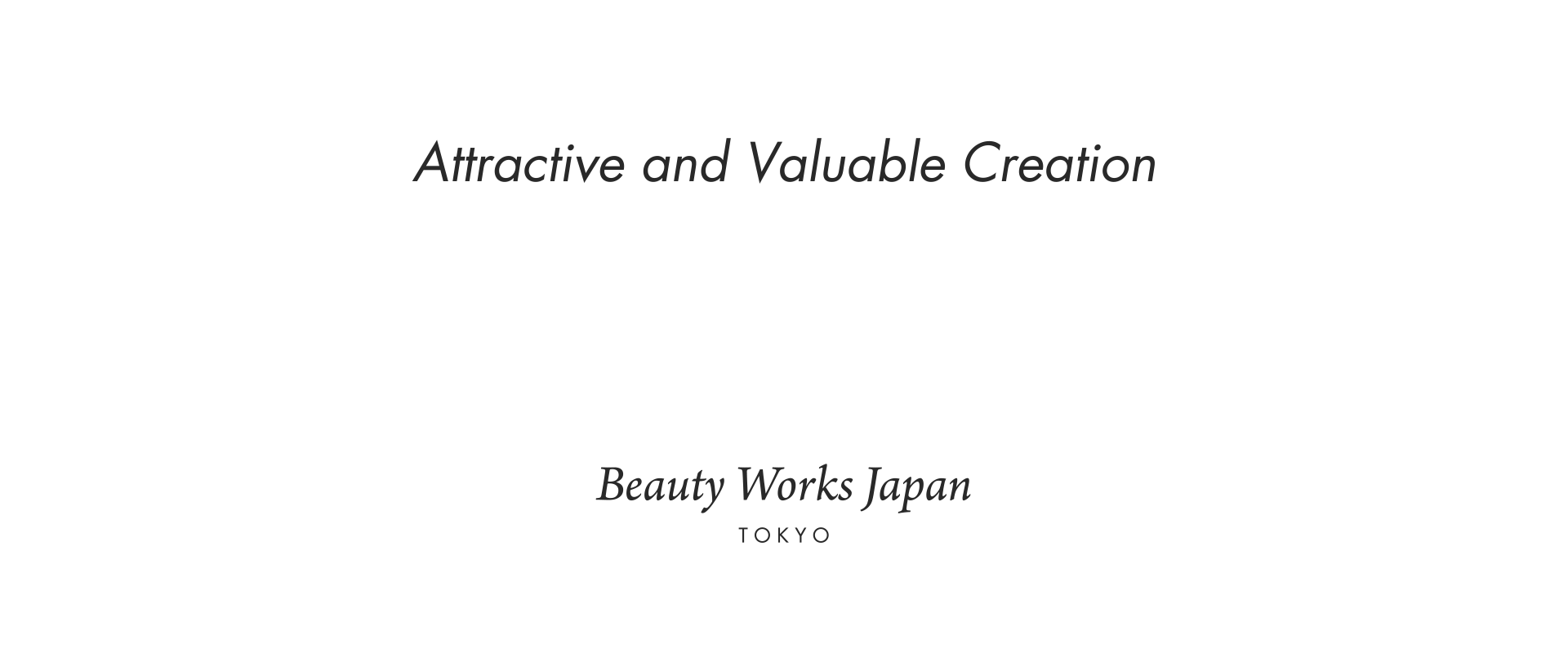 Beauty Works Japan
